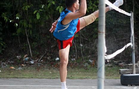 Национальный спорт Сиама - тайский футбол (тайбол, футволей).