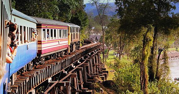 Путешествие на тайских поездах.